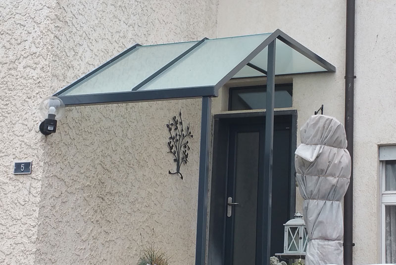 Windfang Hauseingang Glas fassaden